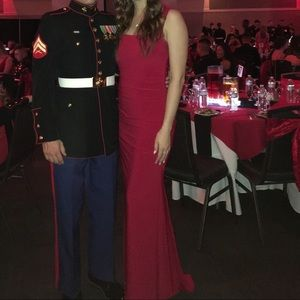 Dress, worn once for a military ball.